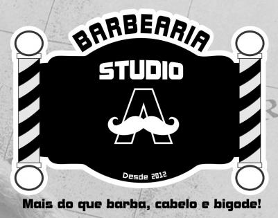 Logomarca Barbearia Studio A barber shop em Torres / RS