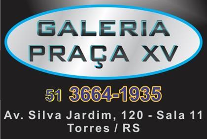 Logomarca Galeria Praça XV em Torres / RS