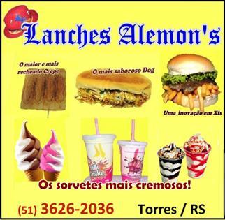 Logomarca Lanches Alemons em Torres / RS