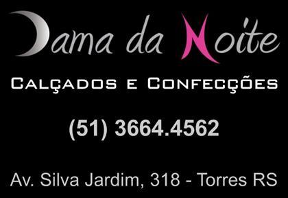 Logomarca Dama da Noite moda masculina e feminina em Torres / RS