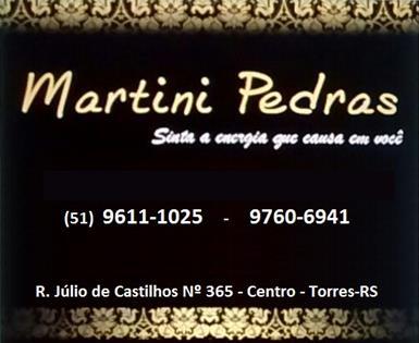 Logomarca Martini Pedras e Semi-Joias com pedras naturais em Torres / RS