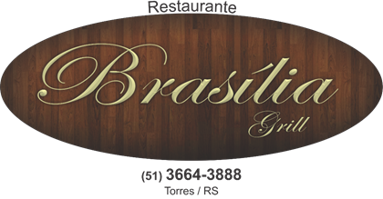 Logomarca Restaurante Brasília Grill em Torres / RS