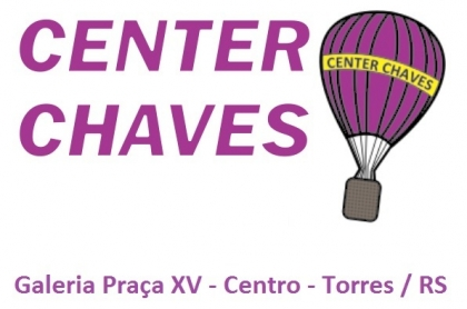 Logomarca Center Chaves Chaveiro Chaves na Hora em Torres / RS