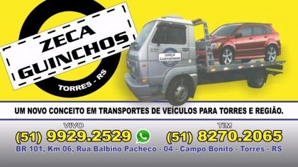 Logomarca Zeca Guinchos reboque e transporte de veículos em Torres / RS